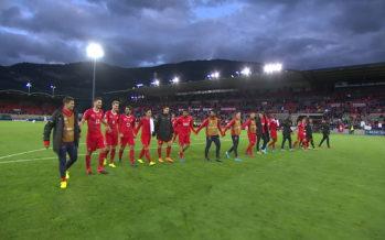 La Suisse s'impose à Tourbillon pour son premier match officiel