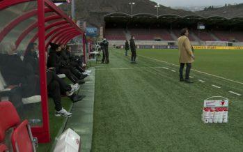 Football: le FC Sion avec Marco Walker à Lucerne
