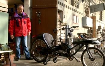 JoystickBike: Yvan Forclaz a bricolé un vélo révolutionnaire