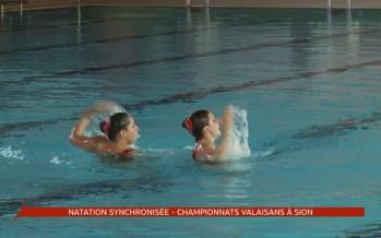 Championnats valaisans de natation synchronisée: duel Sion – Monthey