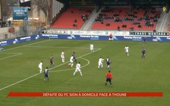 FC Sion: défaite face à Thoune