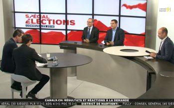 Présidence de Sierre: interview de Marc-André Berclaz, Pierre Berthod et Olivier Salamin