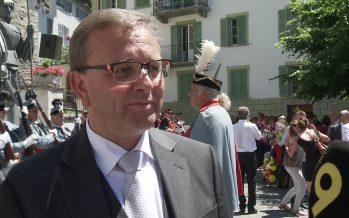 Roberto Schmidt: réception officielle à Loèche du nouveau conseiller d'État