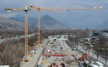 Premier acte concret d'une grande phase de développement, le nouveau parking de l'Hôpital cantonal de Sion sera en service en 2019