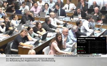 Les 130 constituants n'ont pas chômé ce lundi: 120 amendements au règlement de l'assemblée ont été examinés