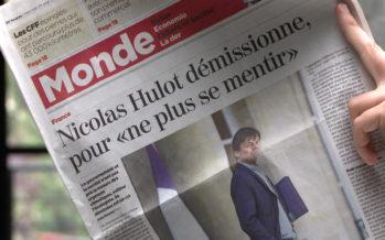 Démission de Nicolas Hulot: lorsque la figure de proue de l'écologie française jette l'éponge, cela fait réagir jusqu'en Valais