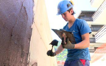 Semaine relève: sur le chantier avec un apprenti maçon