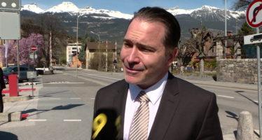 """Nouveau Conseiller national: """"Cela fait plaisir mais aujourd'hui, c'est l'élection de Franz Ruppen"""" Michael Graber"""