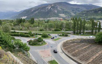 Sion: doublement des voies aux giratoires de Platta