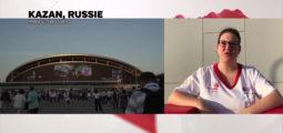 Amélia Brossy depuis Kazan où elle participe aux WorldSkills, les championnats du monde des métiers.