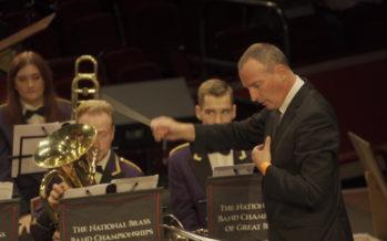 Le directeur du Valaisia Brass Band au Royal Albert Hall de Londres