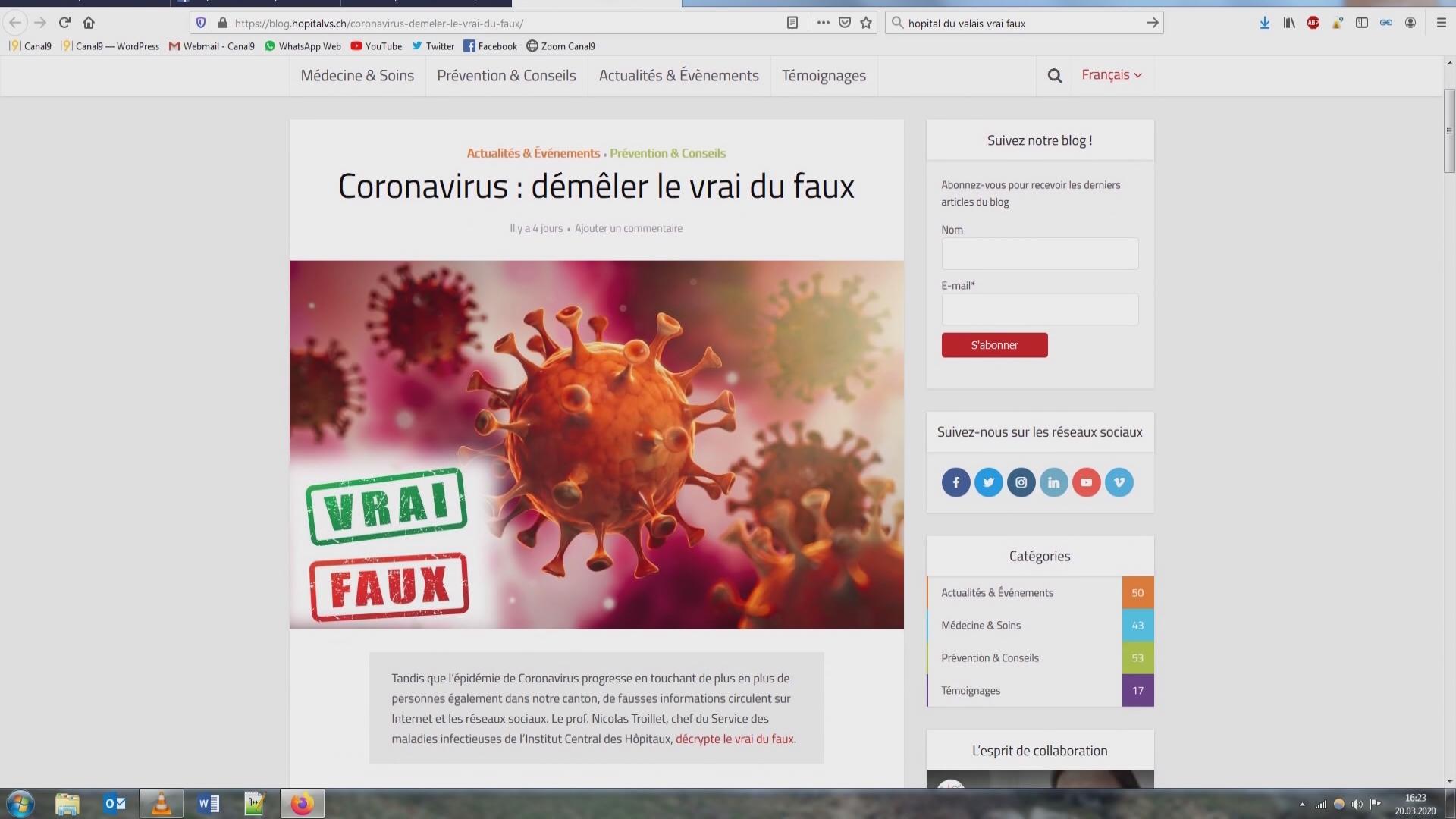 Coronavirus, pas de contagion en Suisse