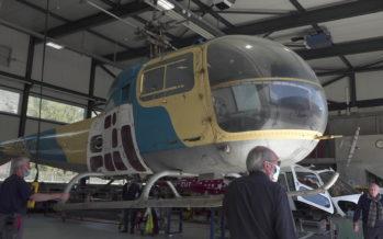 Sauvetage en montagne: retour du Bell 47 en Valais