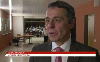 Ignazio Cassis: «On est condamné en Suisse au cœur de l'Union européenne d'avoir de bonnes relations avec les pays qui nous entourent.»