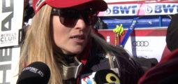 «Aujourd'hui, c'était facile» réaction à chaud de Lara Gut-Behrami après sa victoire à Crans-Montana