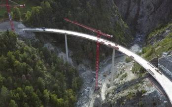 Stalden: un tout nouveau pont sur la Vispa