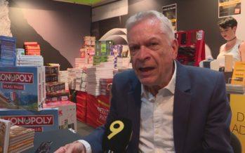 L'ancien journaliste de la RTS Bernard Pichon était en dédicace à la Foire du Valais