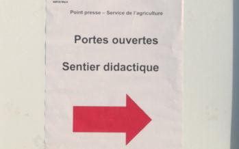 Portes ouvertes et nouveau sentier didactique au Service de l'agriculture