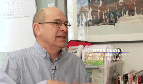 Mads Olesen, premier délégué culturel de la Ville de Martigny