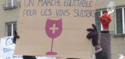 250 viticulteurs mobilisés à Berne pour défendre le vin suisse