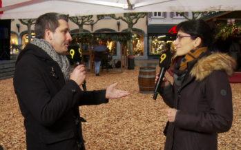 Rencontre au marché de Noël à Martigny avec la présidente Anne-Laure Couchepin Vouilloz