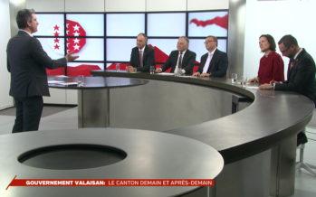 Bilan à mi-législature avec les cinq conseillers d'État qui gouvernent le Valais depuis deux ans