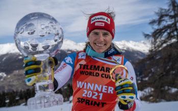 "Telemark: Amélie Wenger-Reymond, ""globes"" trotteuse"