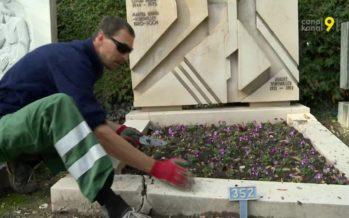 À la Toussaint, on fait les à-fonds dans les cimetières. Reportage à Sierre