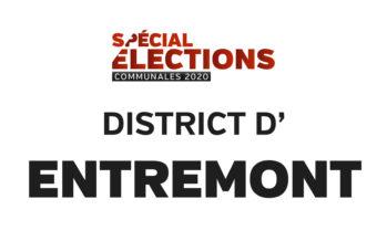Résultats district d'Entremont