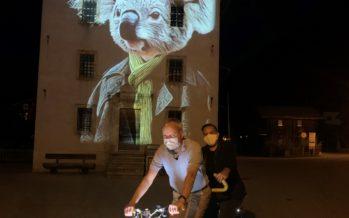 Une projection éphémère au cœur du village d'Ernen