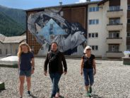 Une œuvre graffiti monumentale à Zermatt