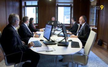 Bilan à mi-législature avec les cinq conseillers d'Etat qui gouvernent le Valais