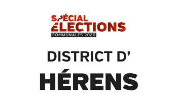 Résultats district d'Hérens