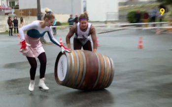 Printemps du Vin: la traditionnelle course de barriques attire des gens de toute la Suisse à Salquenen