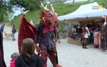 Ambiance moyenâgeuse au Château de La Bâtiaz durant deux jours, pour marquer la réouverture des lieux