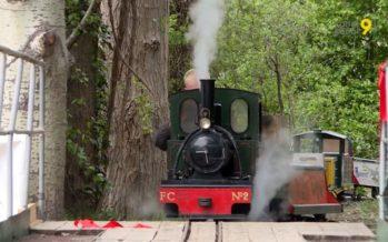 Le parcours des Îles Vapeur Parc à Sion s'agrandit, avec 500 mètres de rails supplémentaires