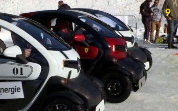 Eco-Trophée des Neiges: en voiture électrique sur le lac gelé de Champex