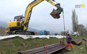 500 personnes menacées par une éventuelle crue à Fully: les berges du Rhône sécurisées en urgence