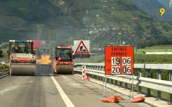 A9: les travaux sur l'autoroute perturbent le trafic entre Saxon et Riddes