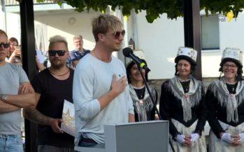 Le groupe rock finlandais Sunrise Avenue a reçu la 34e étoile de la Walk of Stars à… Gampel