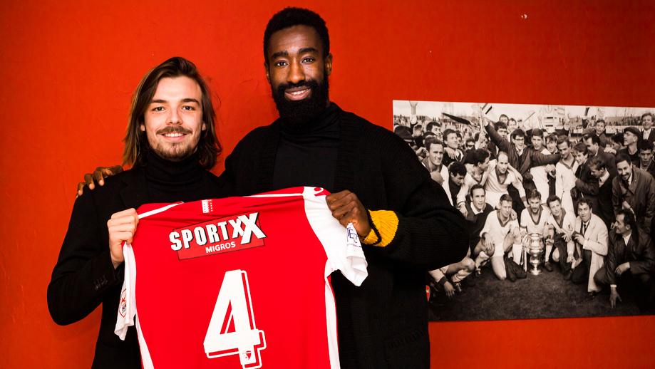 Barthélémy Constantin et Johan Djourou, photo fcsion.ch, janvier 2020